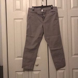 Grey old navy pixie cut pants. Size 14